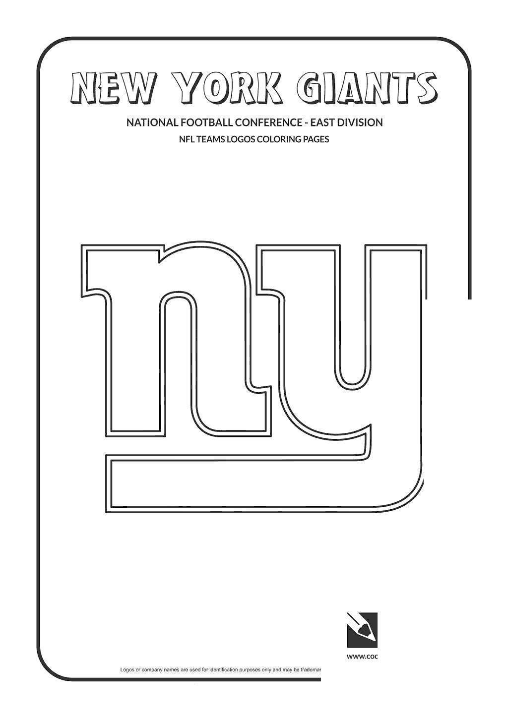 Free New York Giants Football Coloring Pages Cool NFL printable