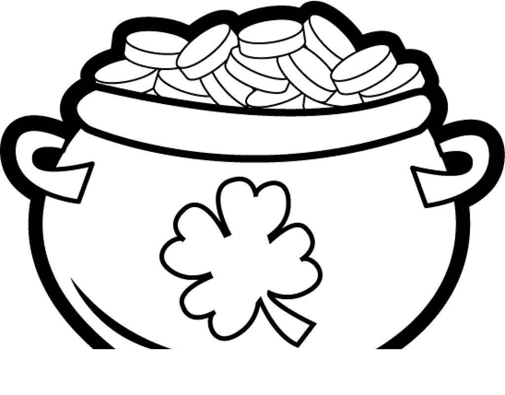 photo about Pot of Gold Printable titled Pot Gold Coloring Webpages Shots - Absolutely free Printable Coloring Web pages
