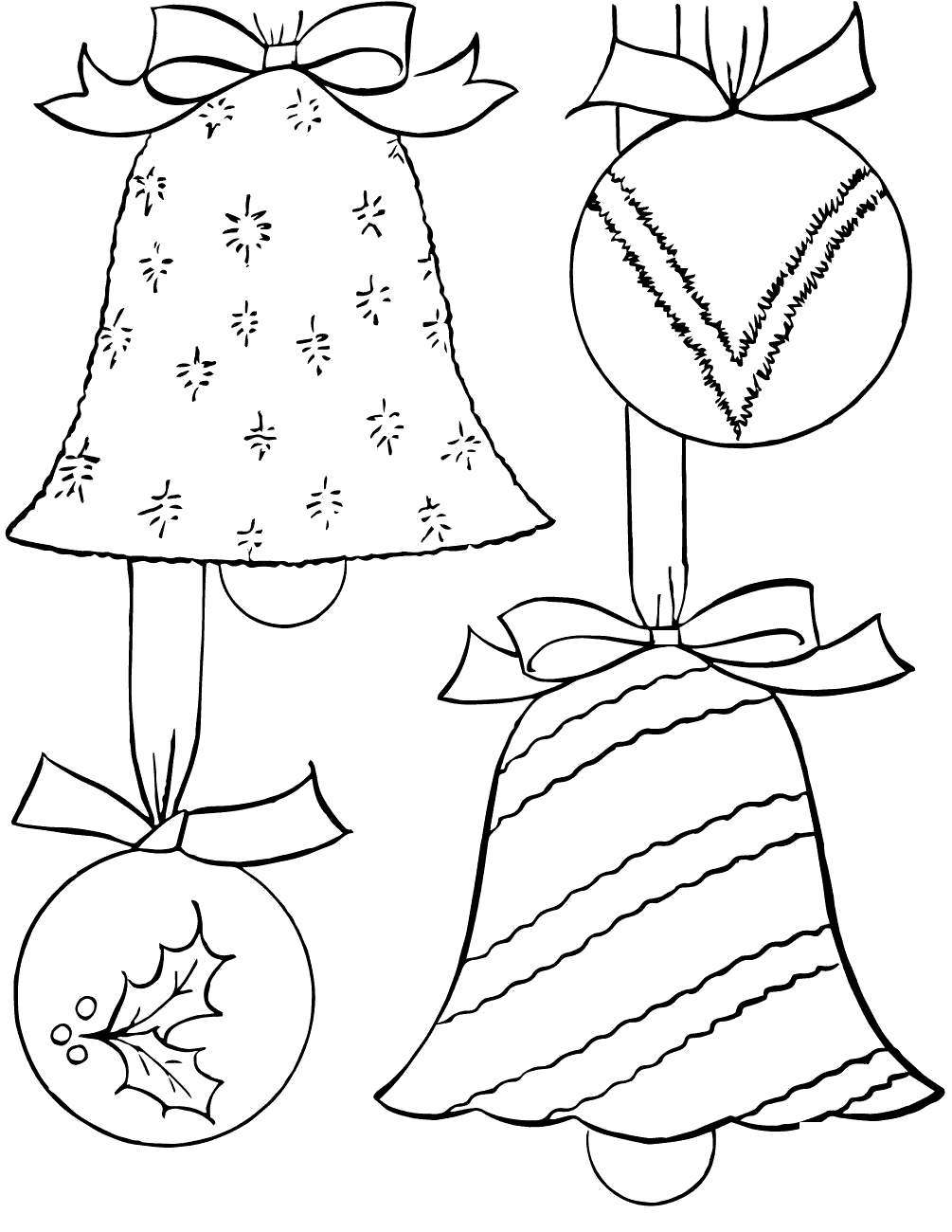 image relating to Coloring Pages Christmas Ornaments Printable identified as Printable Xmas Decorations Coloring Internet pages Ornament