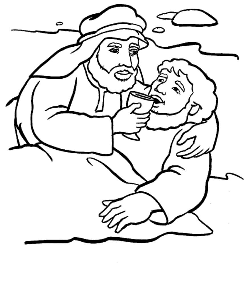 Free Printable The Good Samaritan Coloring Pages Proven printable