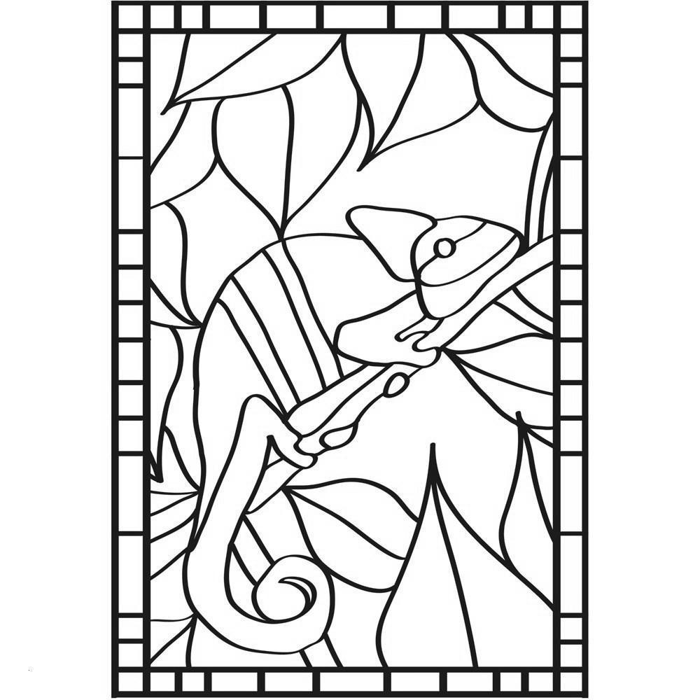 Stained Glass Animal Coloring Pages Window Csb Free Printable