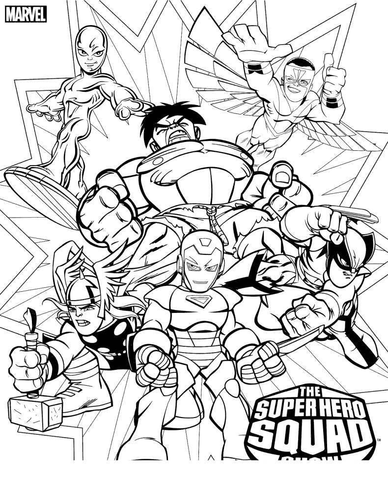 Free Superhero Squad Coloring Pages Super Hero printable