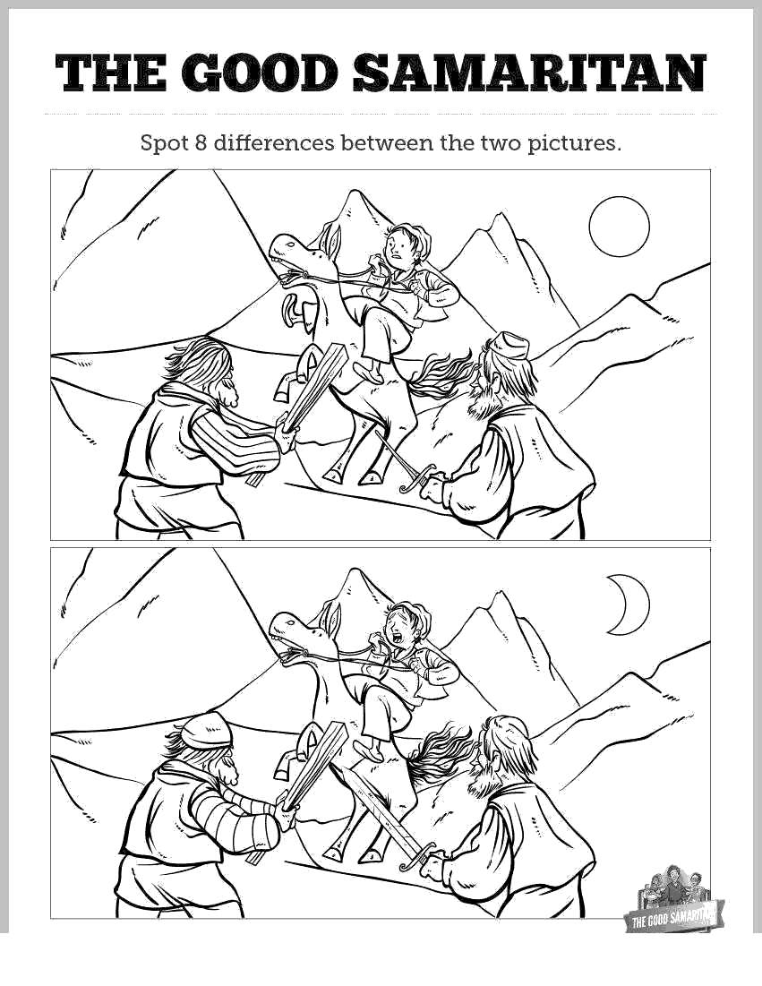 Free The Good Samaritan Coloring Pages Astonishing Linear printable