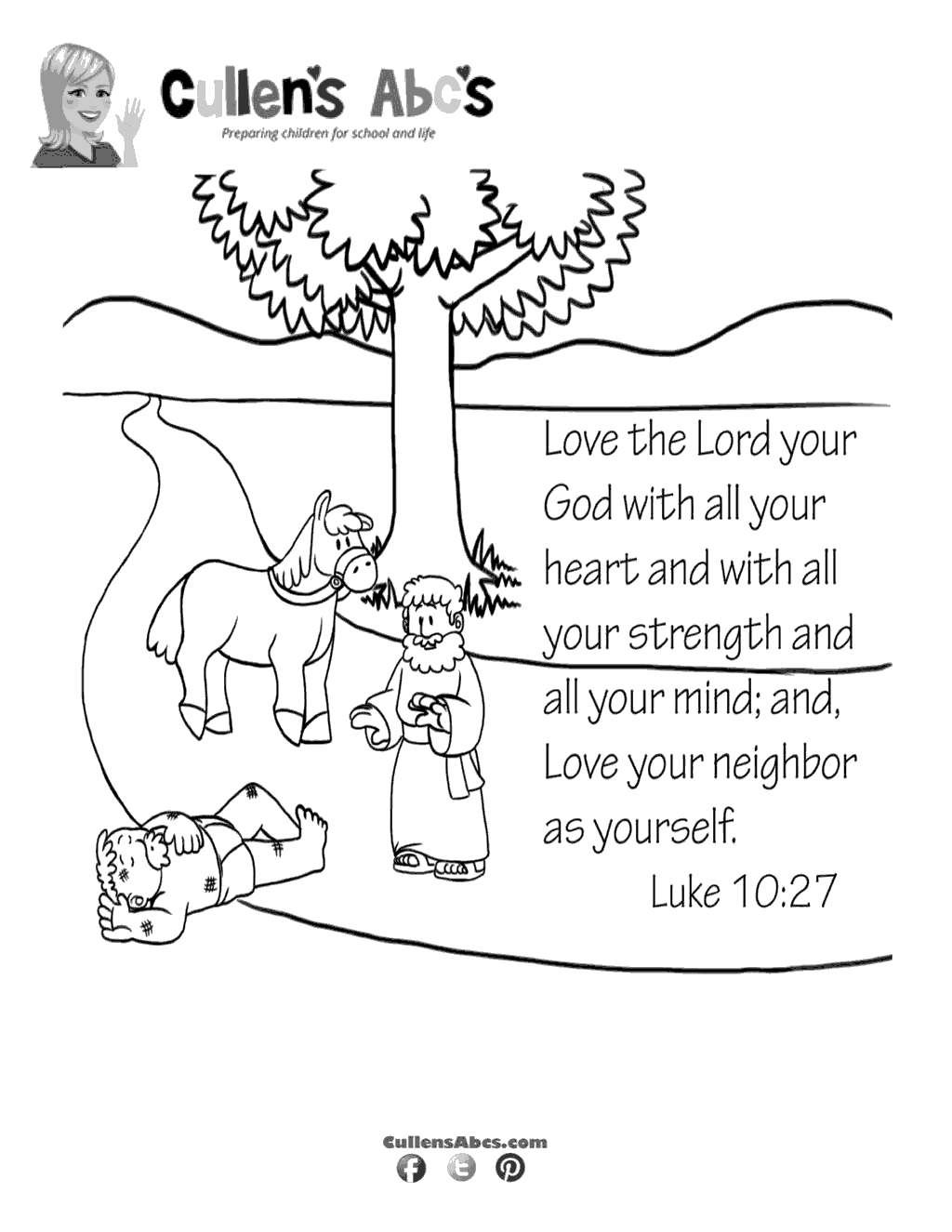 Free The Good Samaritan Coloring Pages Love Your printable