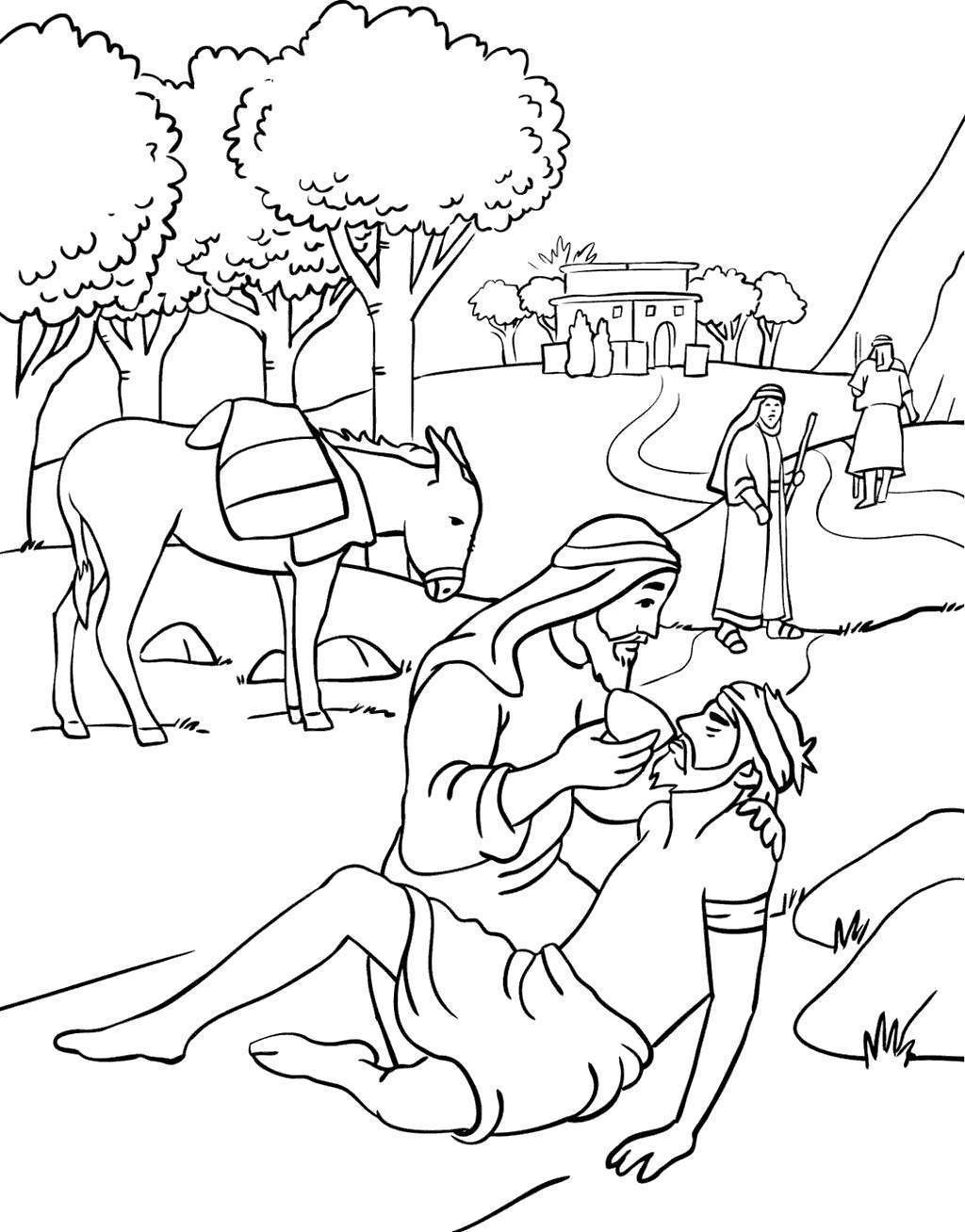 Free The Good Samaritan Coloring Pages Mormon Doodles printable