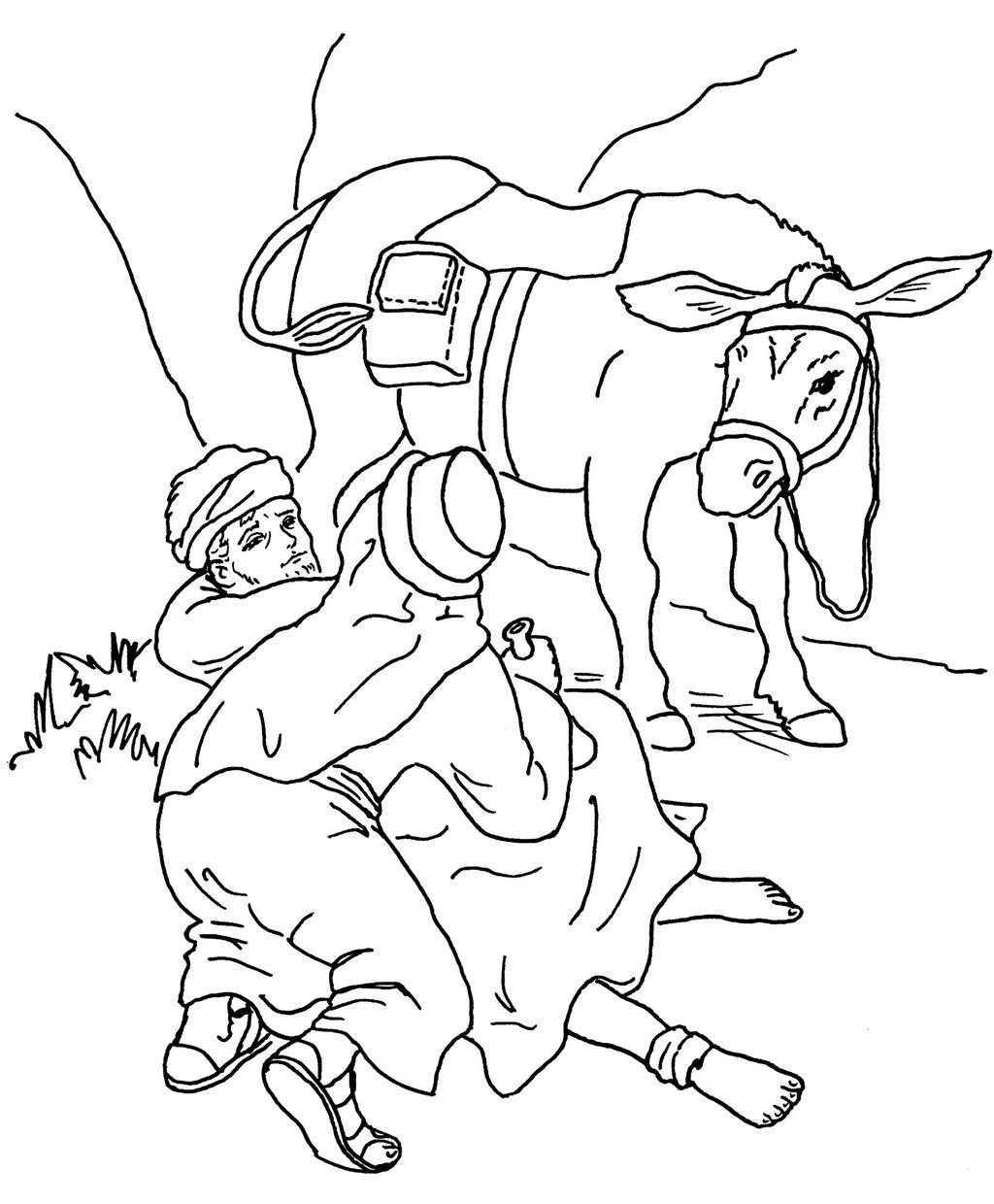 Free The Good Samaritan Coloring Pages  for Kids printable
