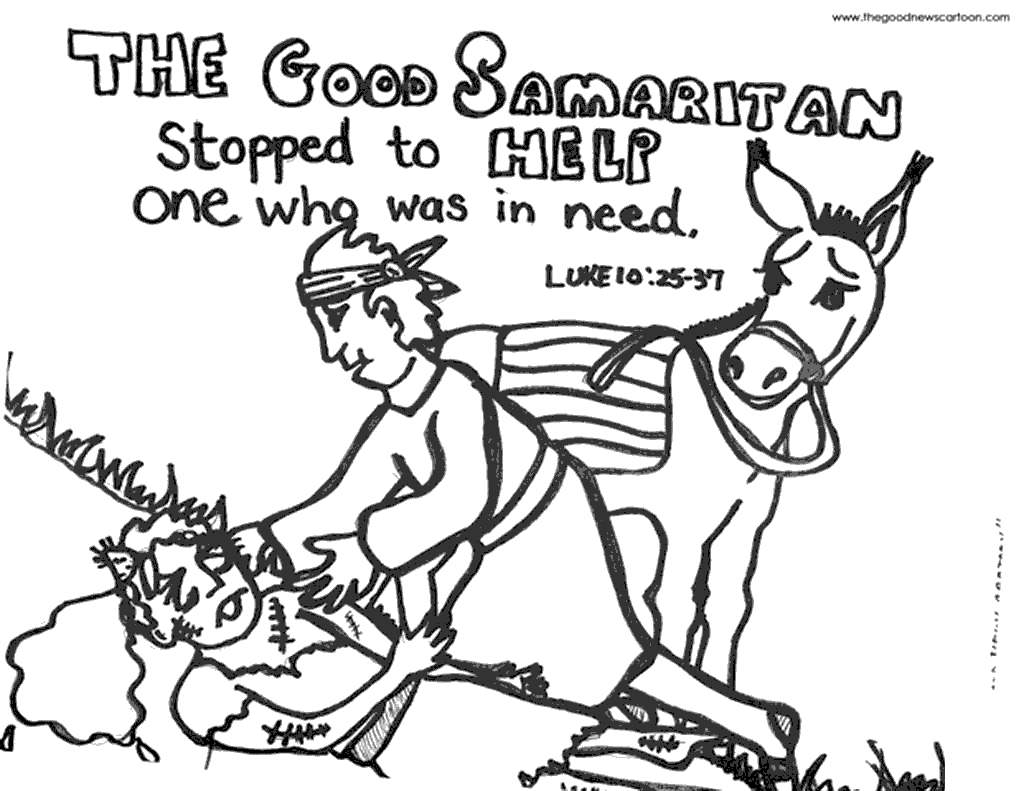 Free The Good Samaritan Coloring Pages plete In printable
