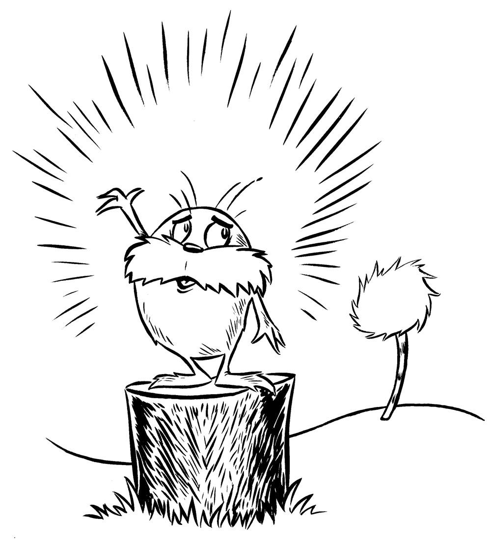 photo relating to Lorax Printable referred to as The Lorax Coloring Webpages Wished-for Attractive - Cost-free Printable
