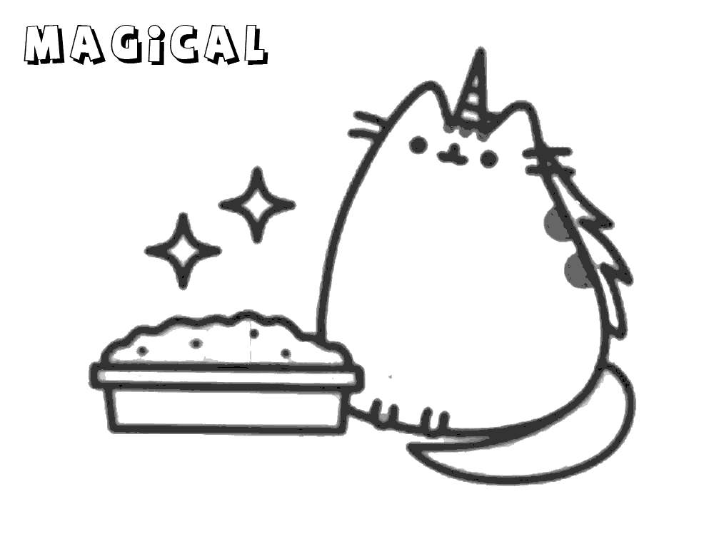 Pusheen Cat Birthday Coloring Pages - Free Printable ...