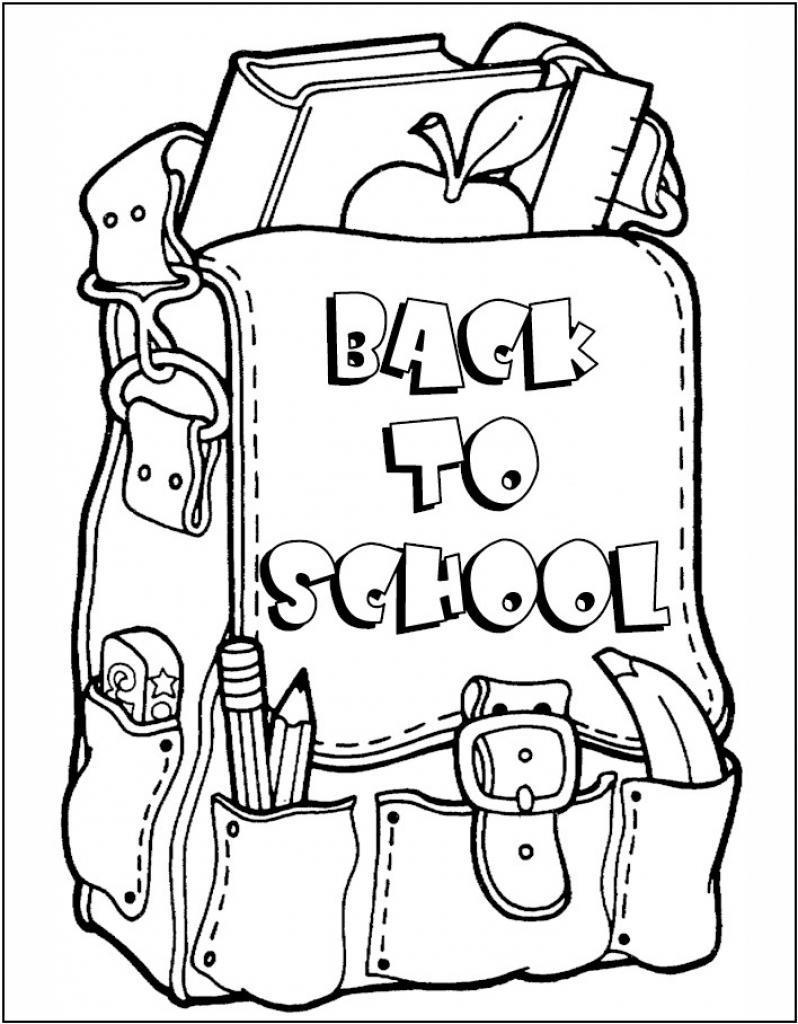 Free First Grade Back To School Coloring Pages Day Courtoisieng printable