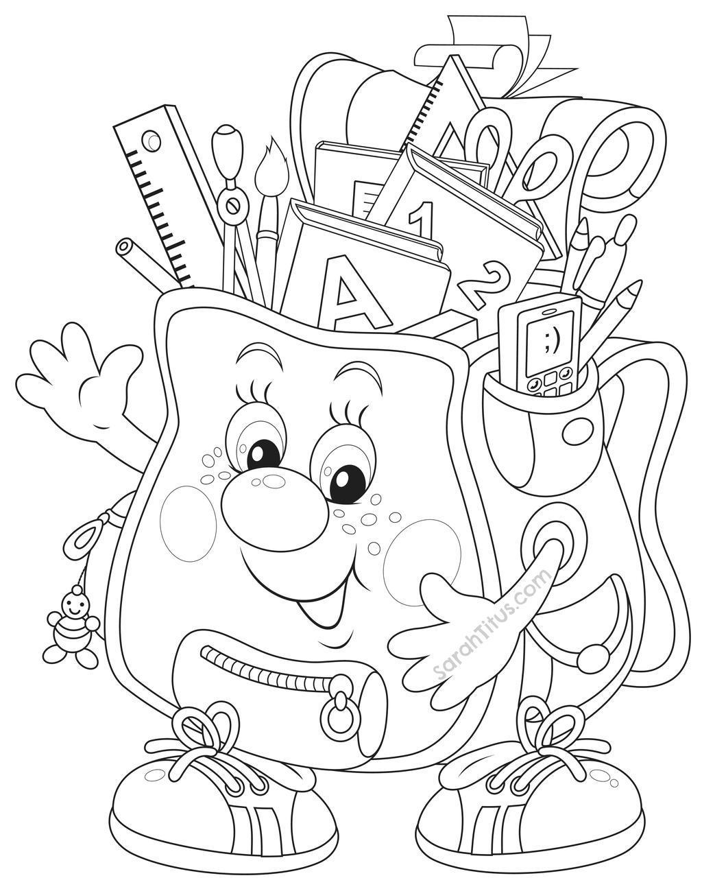Free First Grade Back To School Coloring Pages Ethicstech Org printable