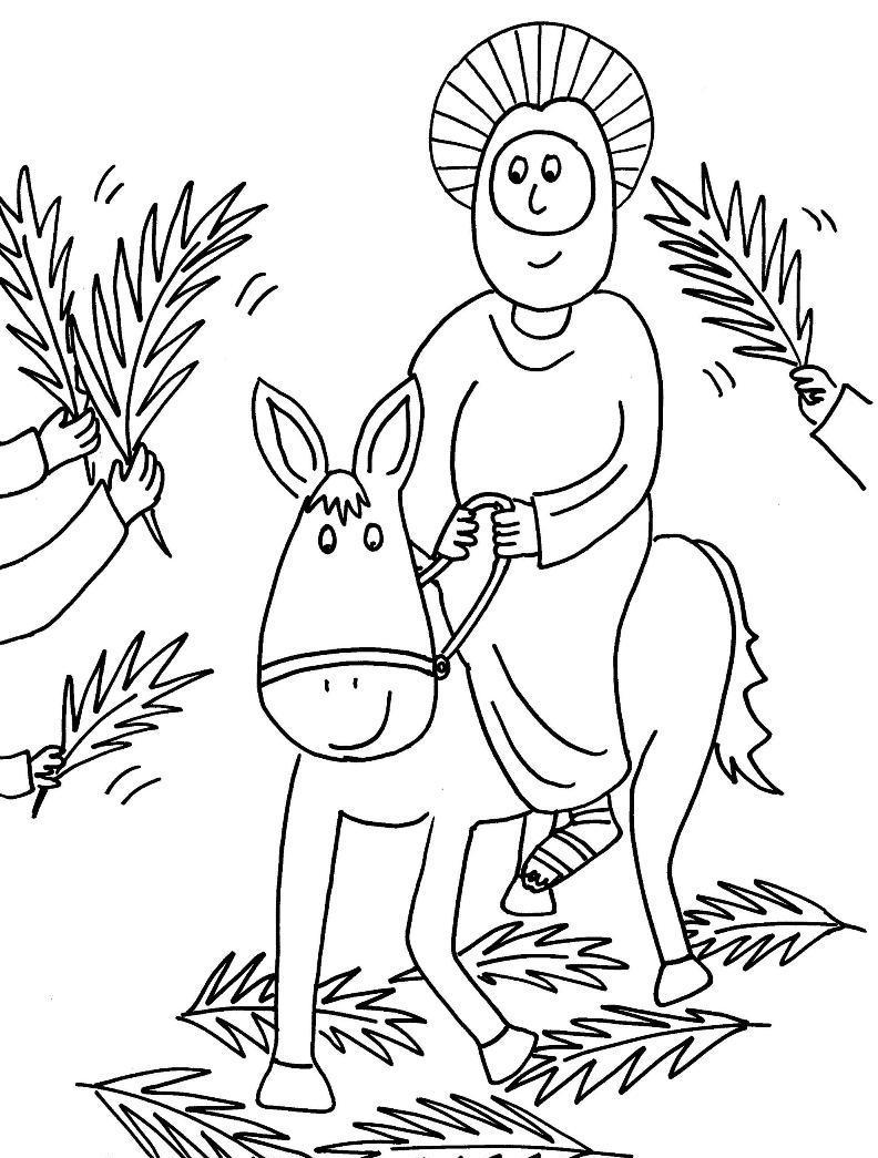Free Palm Sunday Coloring Pages 258 Drawing Pictures - Free ...