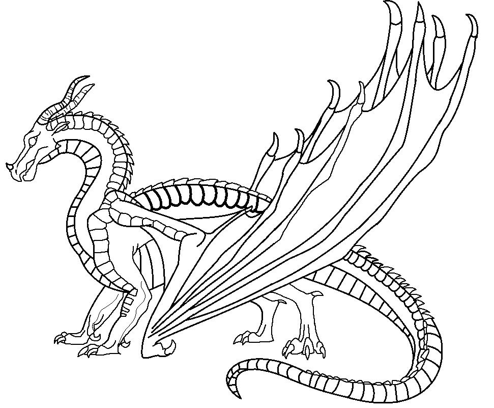 Free Free Wings Of Fire Coloring Pages Skywing Pictures printable