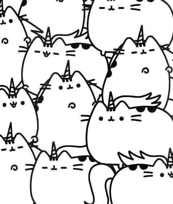 Unicorn Pusheen Cat Coloring Pages - Free Printable ...