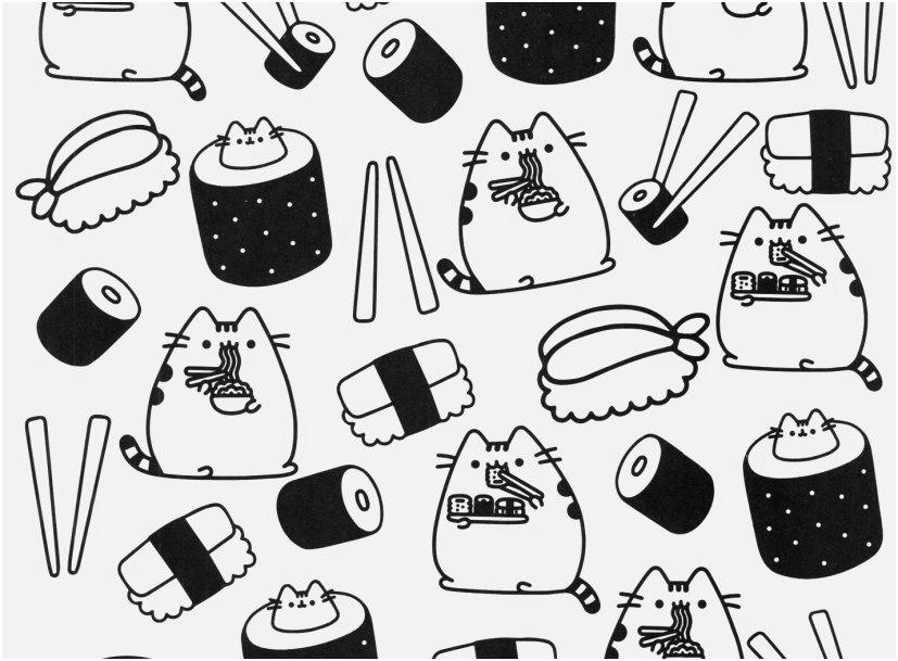 Free New Pusheen Cat Coloring Pages 54 Printable printable