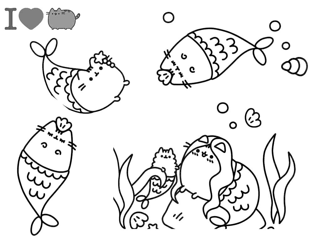 photograph regarding Pusheen Printable referred to as I Get pleasure from Pusheen Cat Coloring Webpages - Free of charge Printable Coloring
