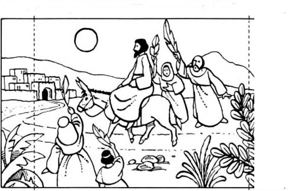 Palm Sunday Coloring Pages 231 Free Printable - Free ...