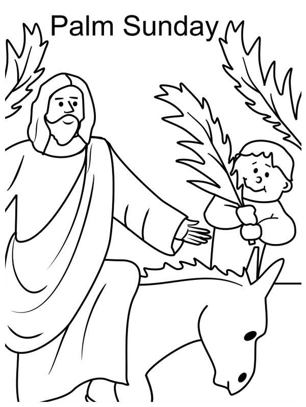 Free Palm Sunday Coloring Pages Kid Wave Tree Branch In Front Of printable