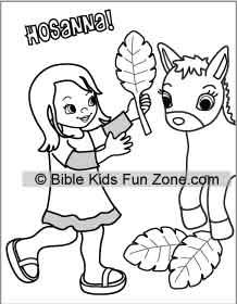 Free Palm Sunday Coloring Pages Lessons Crafts printable