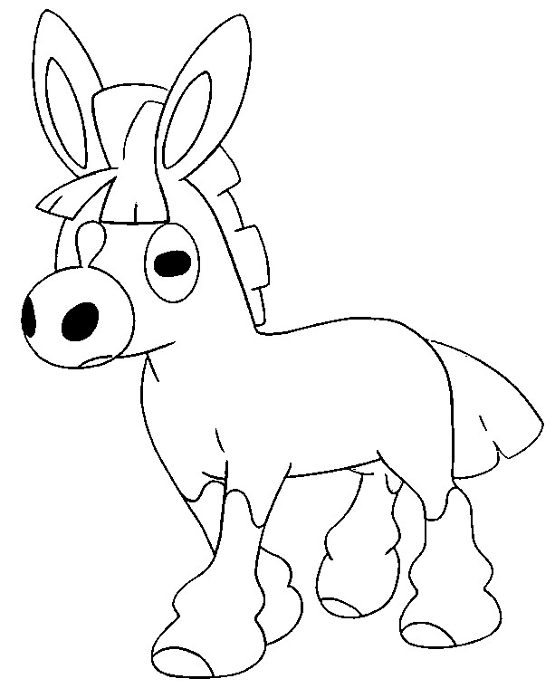 Free Pokemon Coloring Pages Sun and Moon Mudbray printable