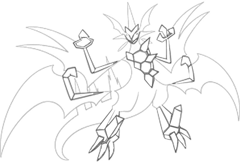 Free Pokemon Coloring Pages Sun and Moon Ultra Necrozma printable