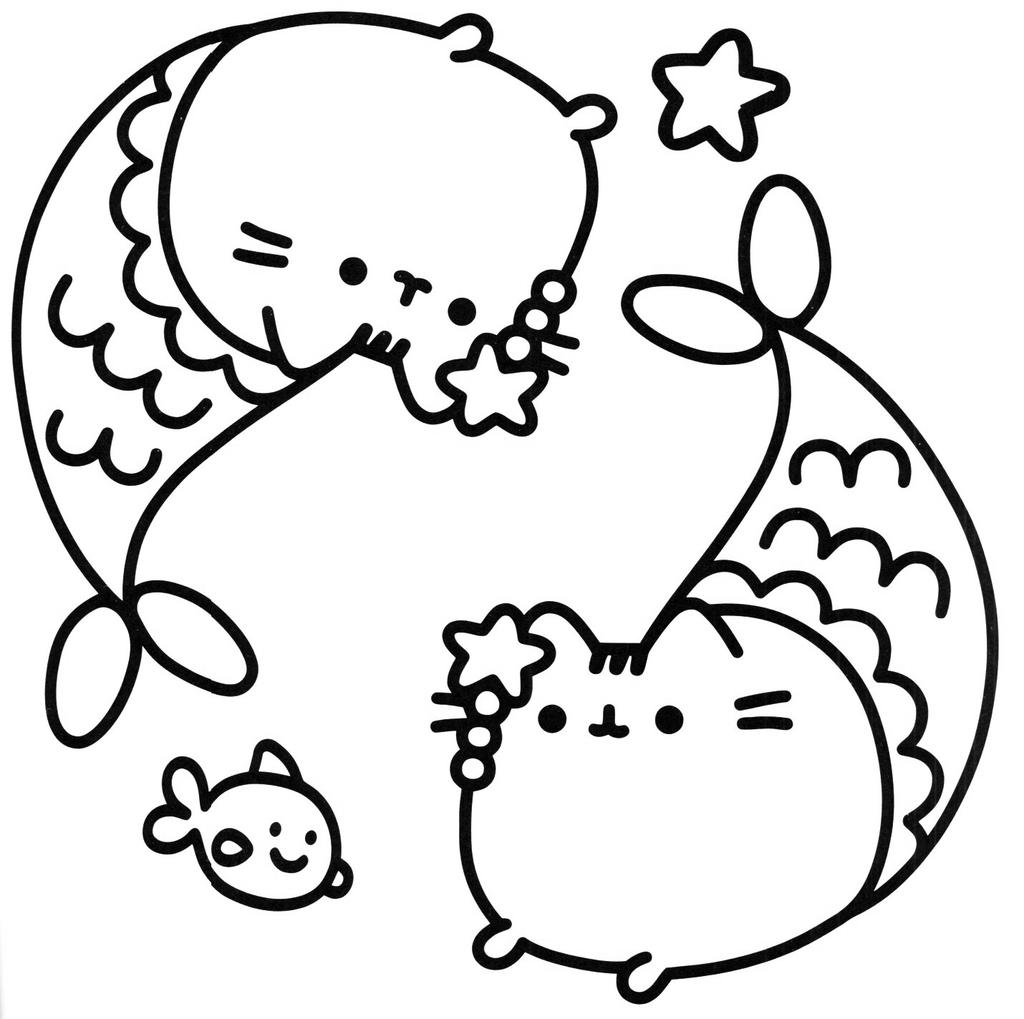Free Printable Pusheen Cat Coloring Pages 145 for Preschool printable