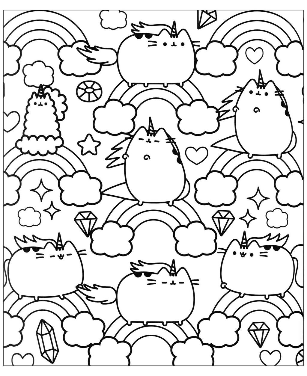 Free Pusheen Cat Coloring Pages 131 Images printable
