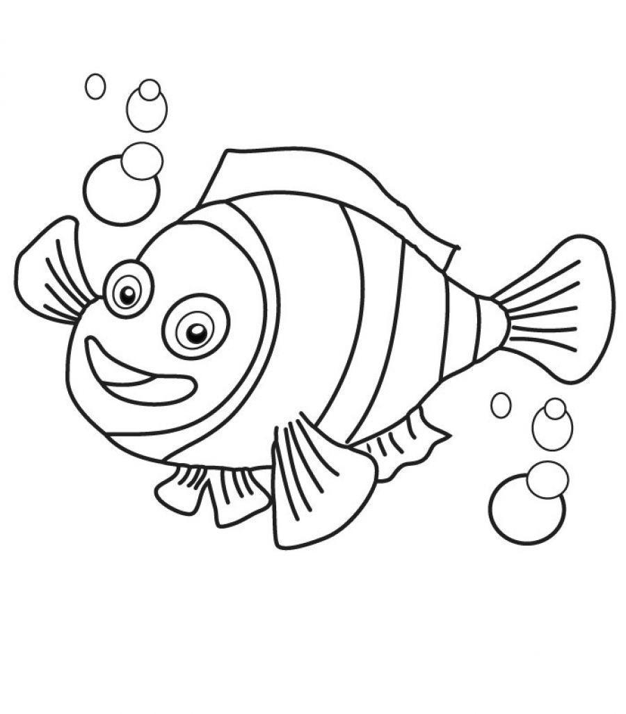 Small Fish Coloring Pages Printable Free Printable Coloring Pages