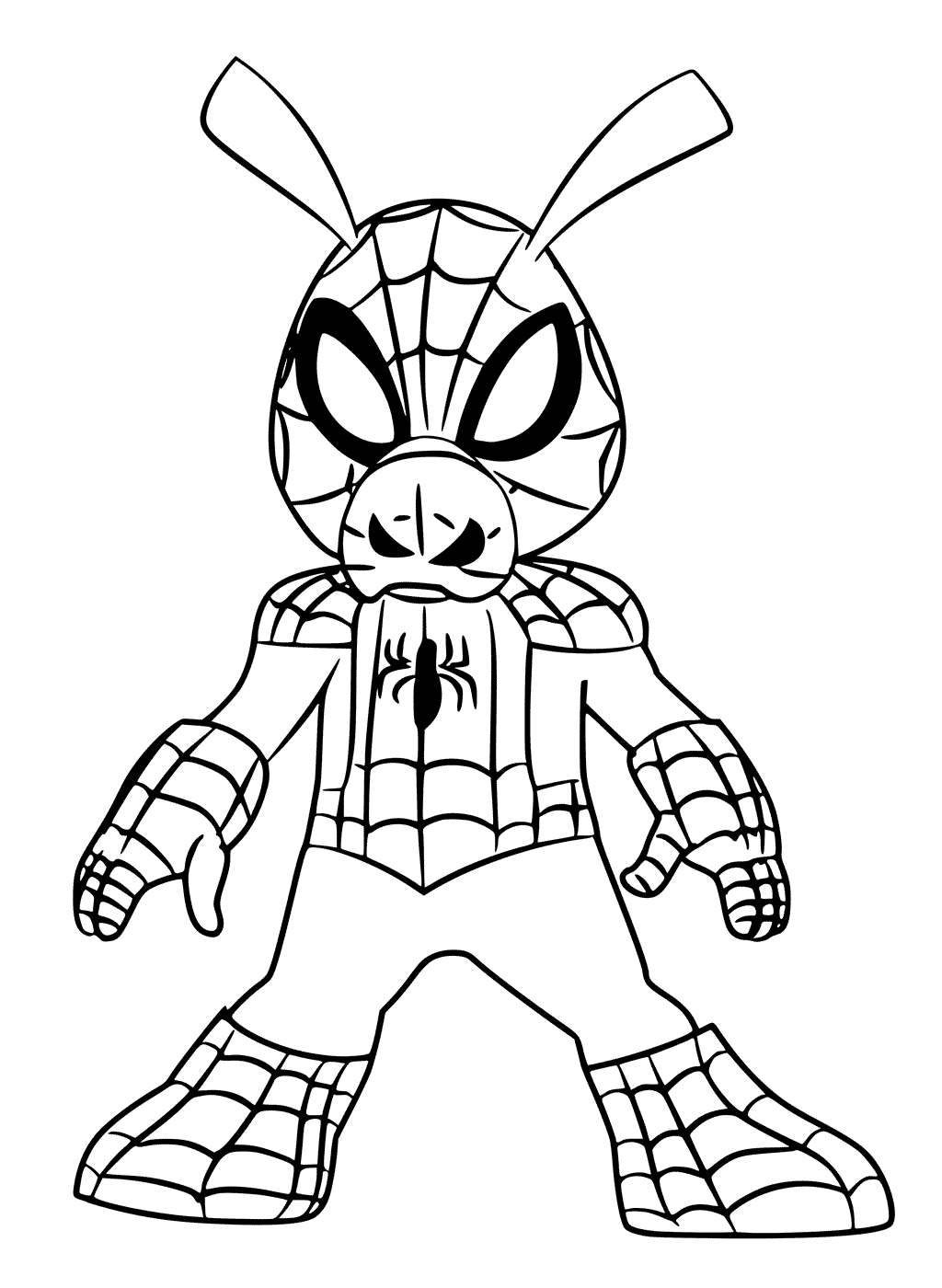 Free Spider Man Into the Spider Verse Coloring Pages Spider Ham printable