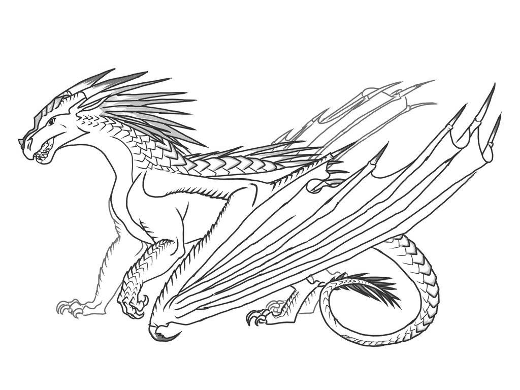 Wings of fire dragon coloring pages ~ Wings Of Fire Coloring Pages Rainwing Drawings - Free ...