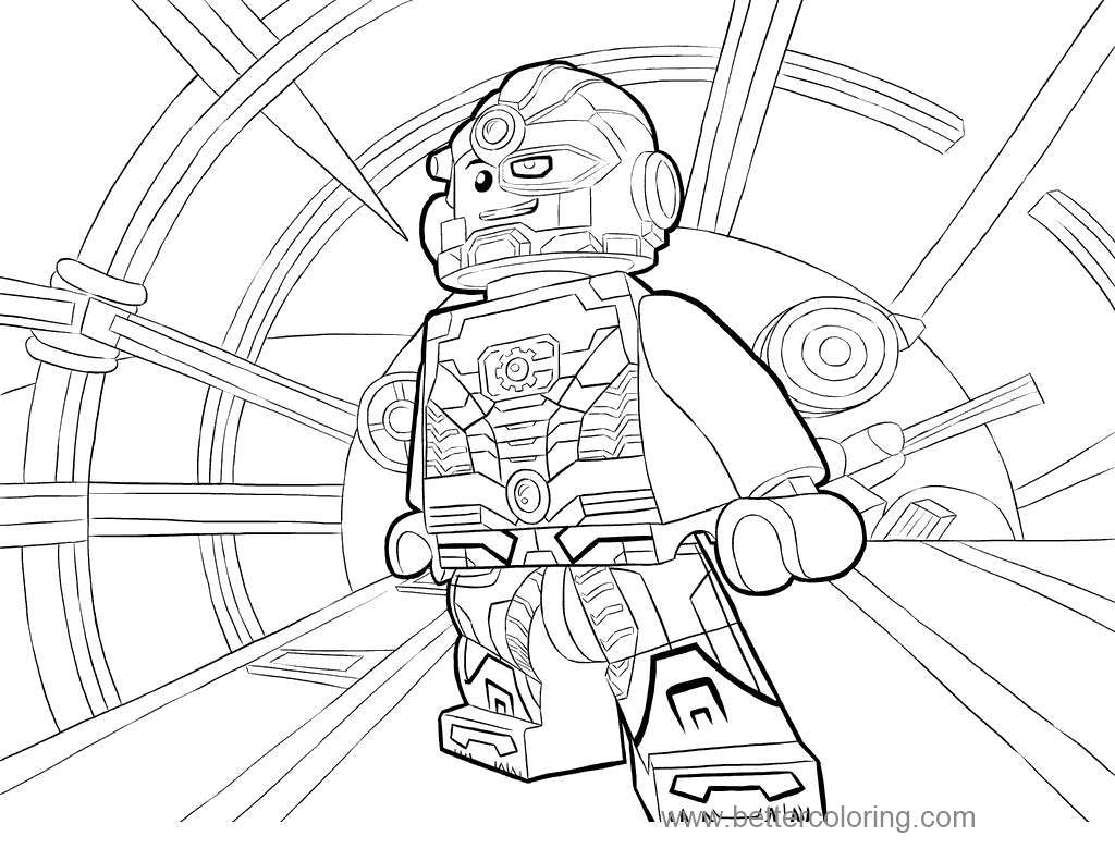 Aquaman Coloring Pages Lego Cyb Free Printable