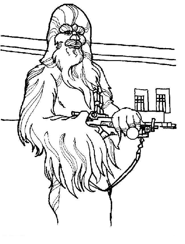 Chewbacca Coloring Pages For Preschool Free Printable