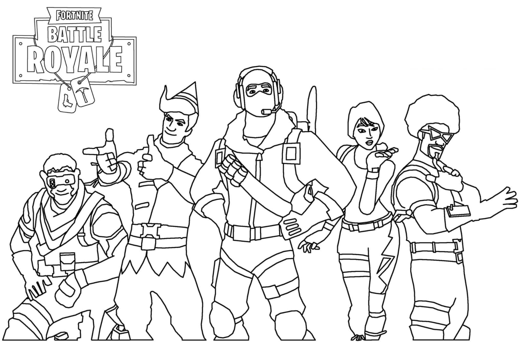Free Easy Fortnite Skin Coloring Pages Skins Drawing Pictures printable