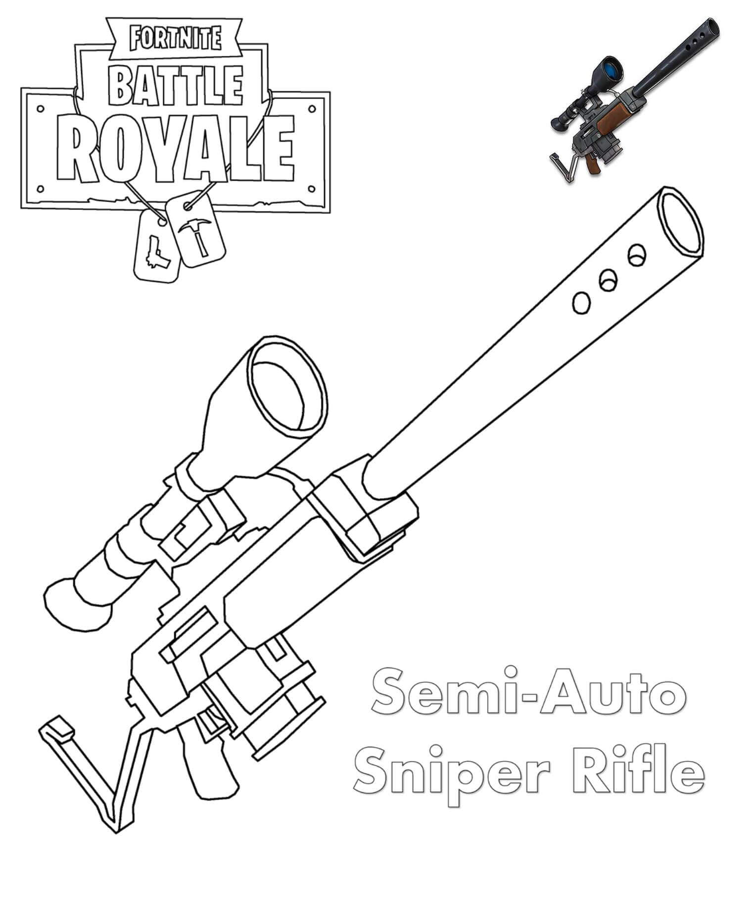Free Easy Fortnite Skin Coloring Pages Sniper Images printable