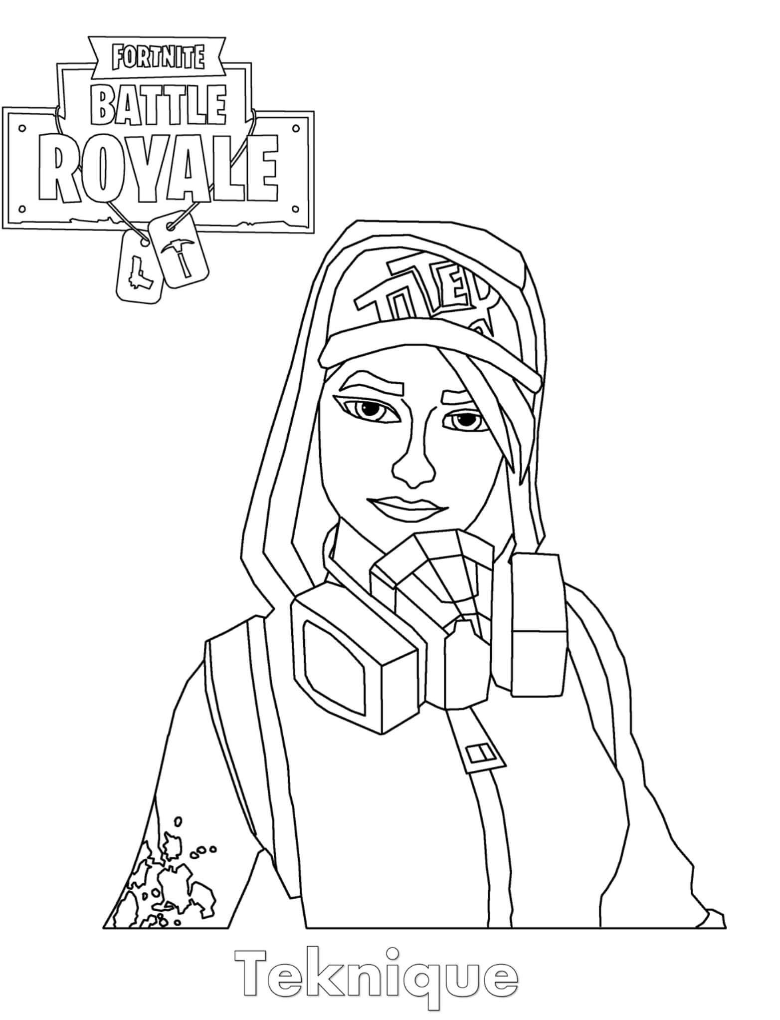 Free Easy Fortnite Skin Coloring Pages Teknique Online printable