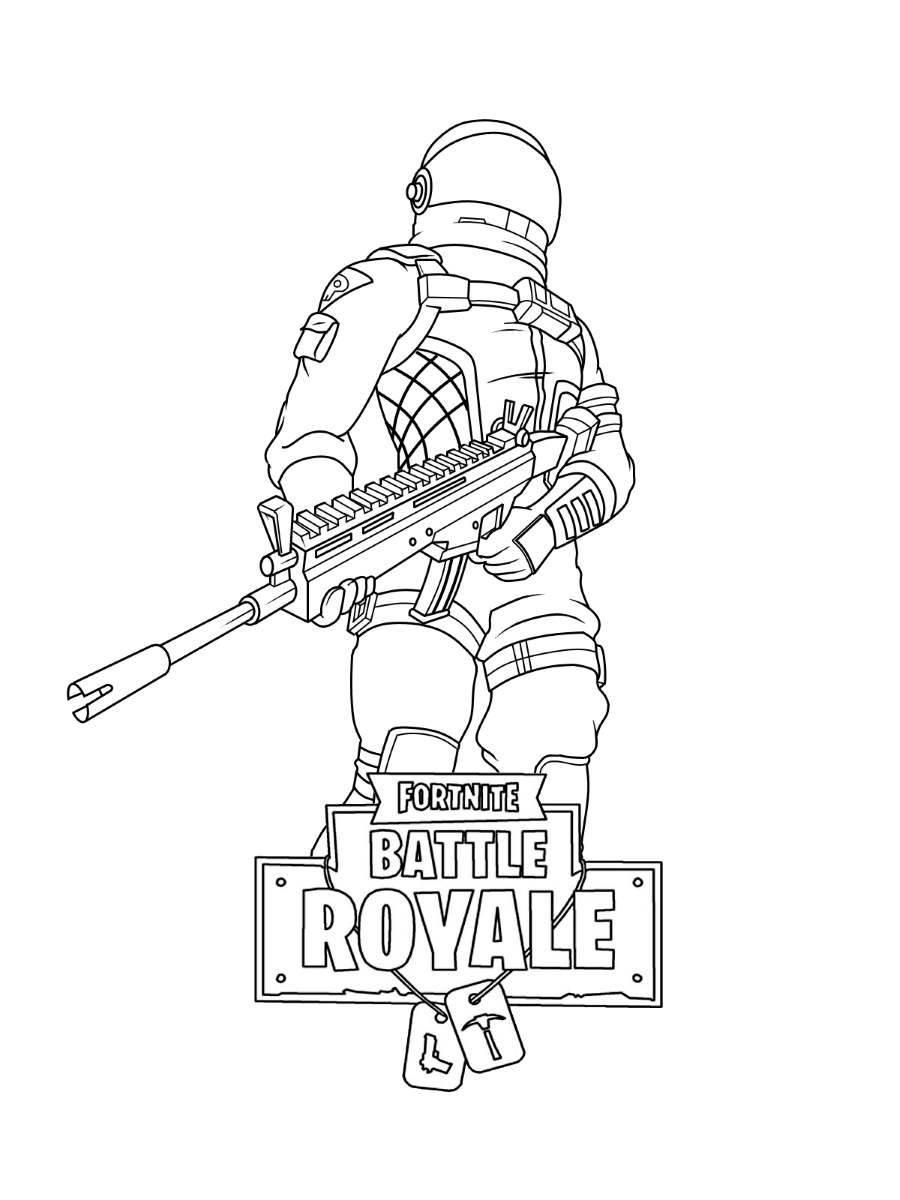 Fortnite Skin Coloring Pages 9 Black And White Free