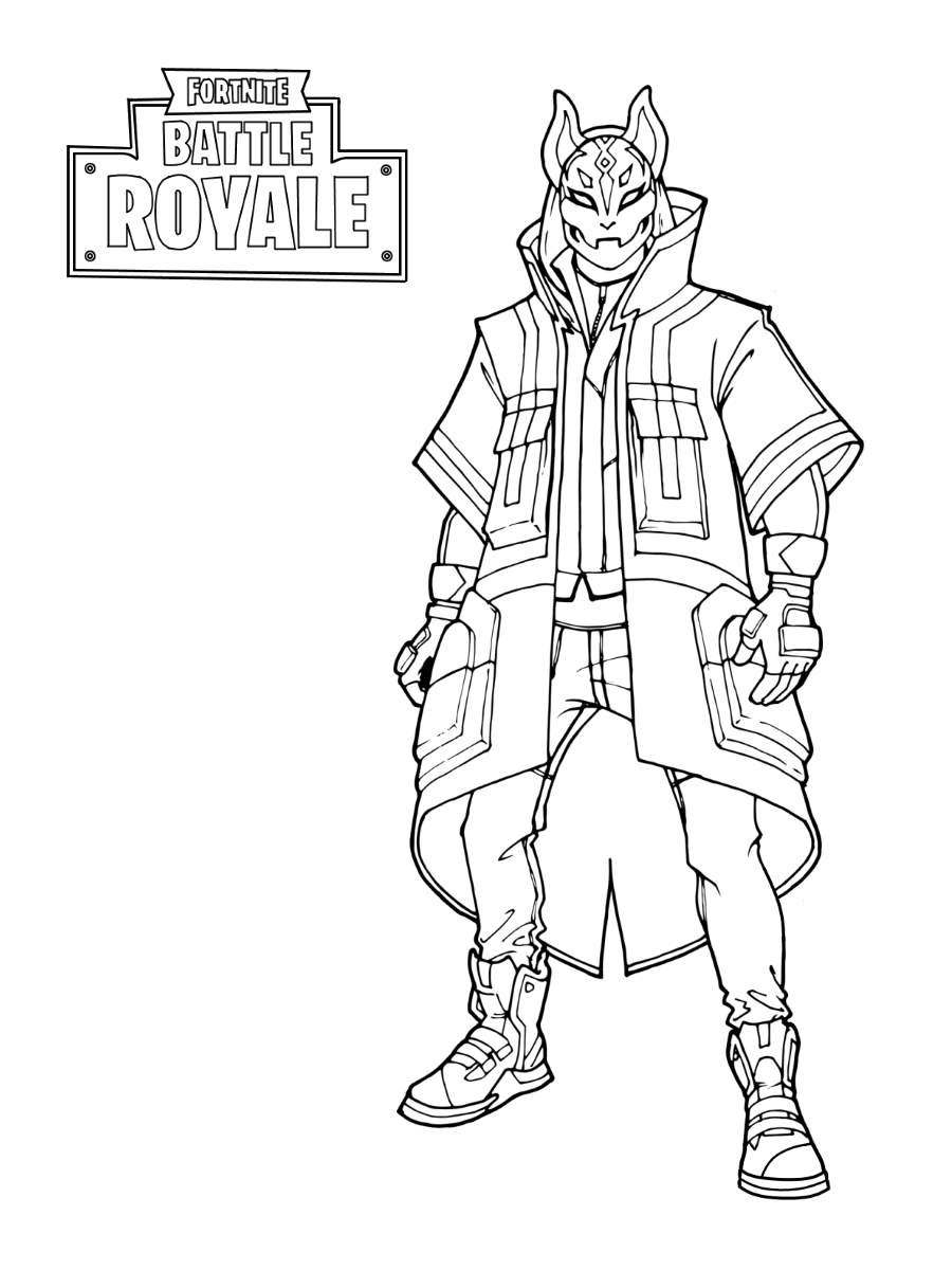 Free Fortnite Skin Coloring Pages Drift Stage printable