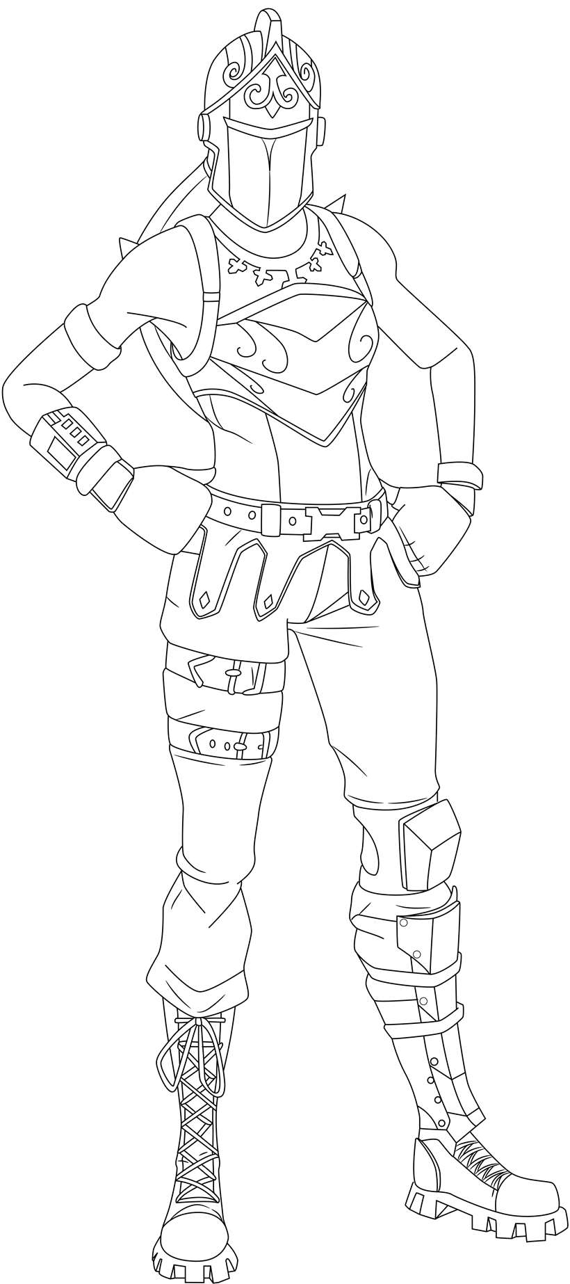 Fortnite Skin Coloring Pages Red
