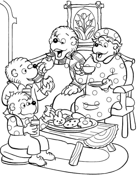 Free Berenstain Bears Coloring