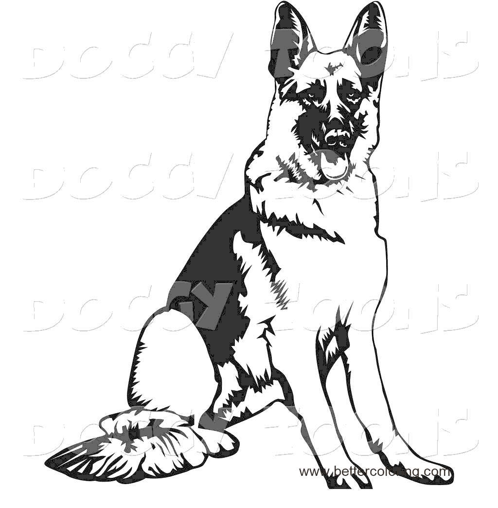 Free Free German Shepherd Coloring Pages Images 166 printable