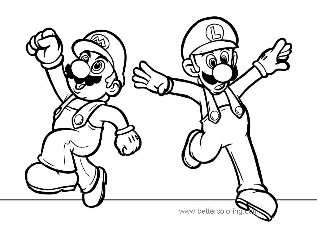 Free Luigi Coloring Pages Online