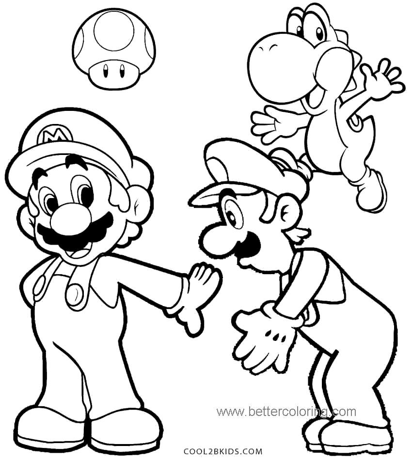 Free Luigi Coloring Pages for Kids