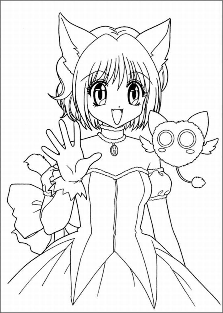 Gacha Life Coloring Pages Hand Drawing Free Printable
