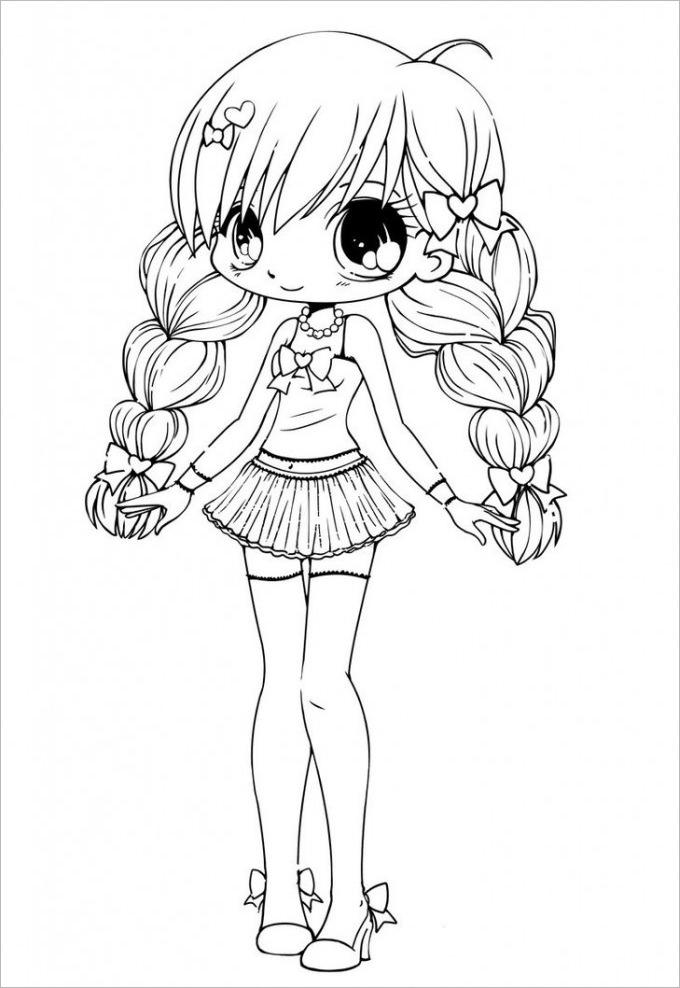 Gacha Life Coloring Pages Sketch Free Printable Coloring Pages