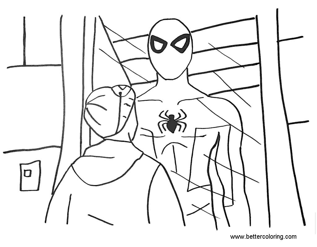 Miles Morales Coloring Pages Fan Art - Free Printable ...