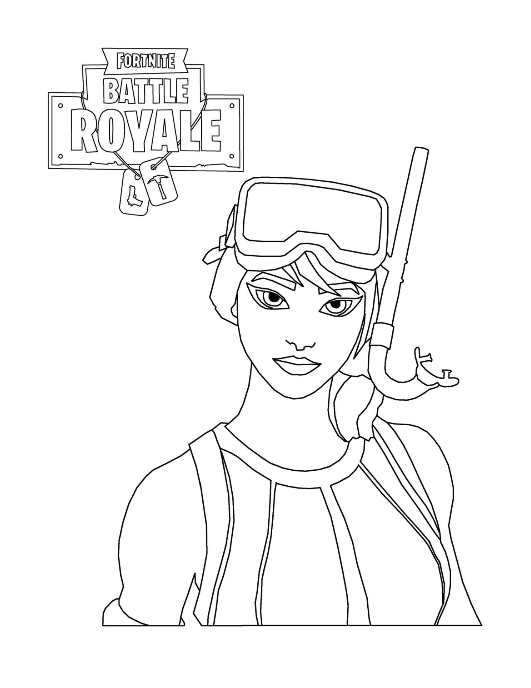 New Fortnite Skin Coloring Pages Character Drawing ...