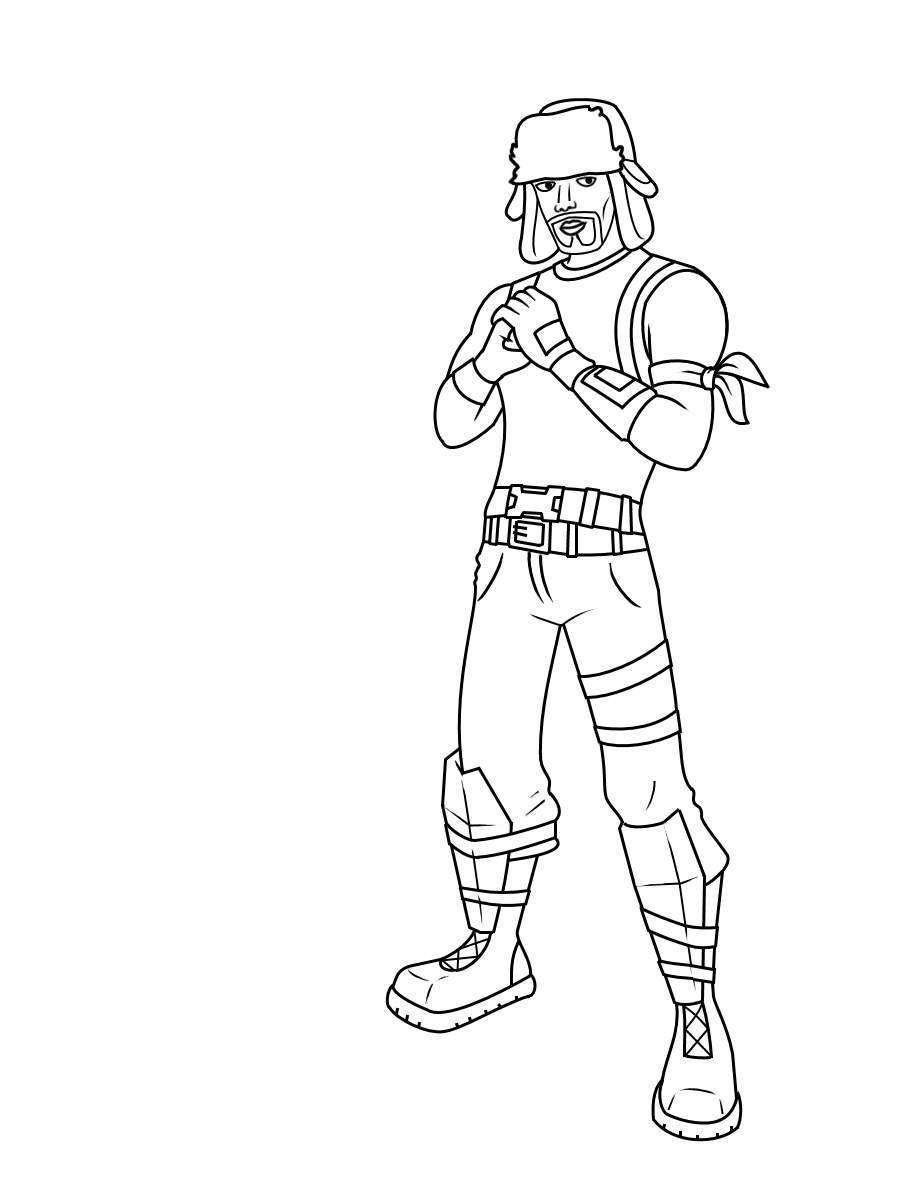 Printable Fortnite Skin Coloring Pages 79 Coloring Book