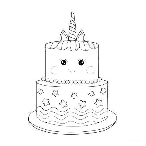 Printable Unicorn Cake Coloring Pages - Free Printable ...