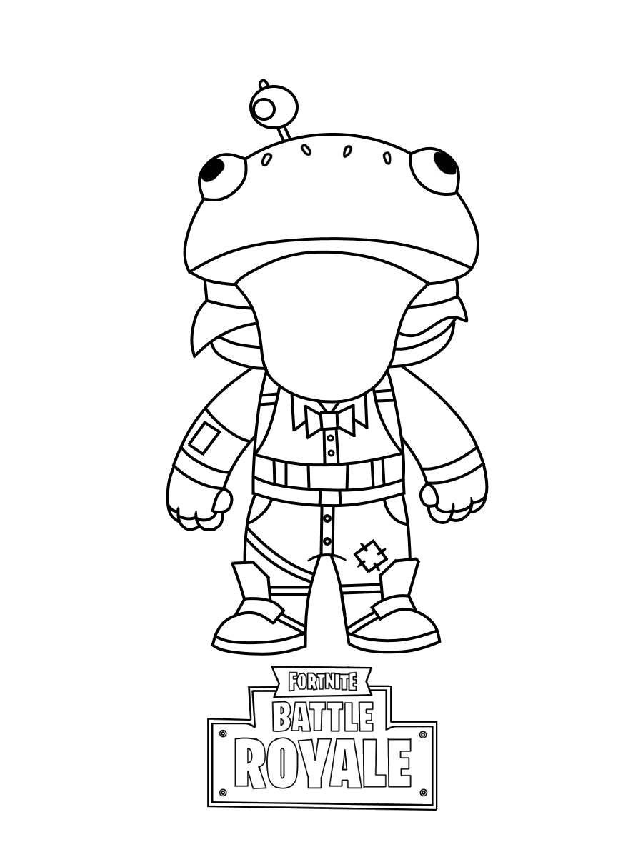 Free Simple Fortnite Skin Coloring Pages Mini Activity printable