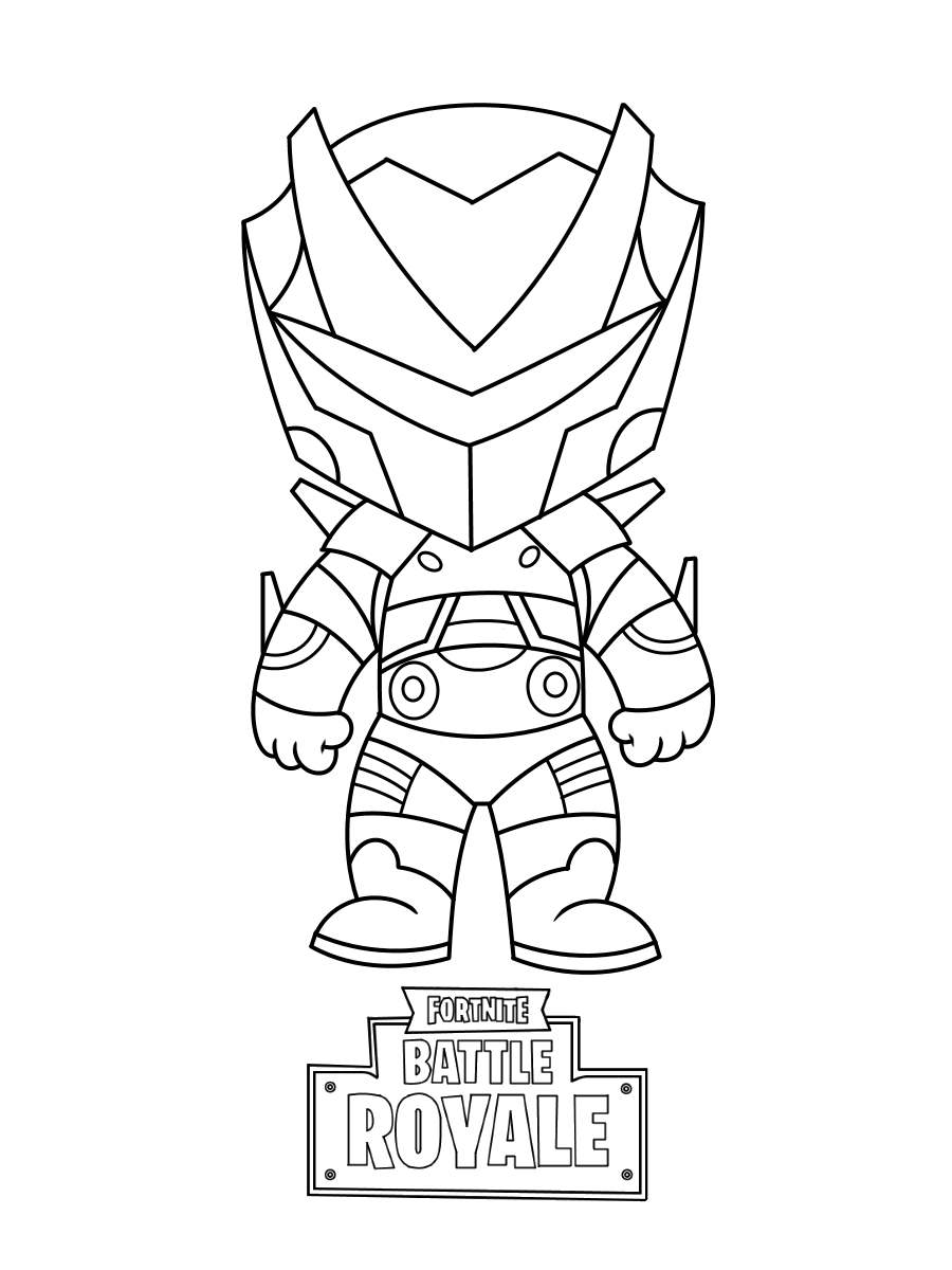 Simple Fortnite Skin Coloring Pages Mini Drawing Pictures